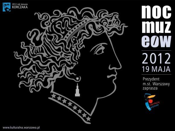 Plakat promujacy Noc Muzeów UM Warszawa