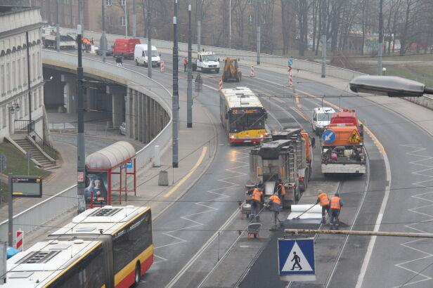 Prace remontowe na trasie W-Z Lech Marcinczak/ tvnwarszawa.pl