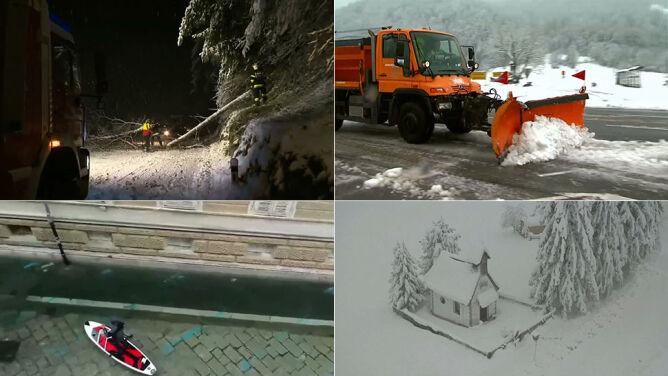 Silny wiatr, ulewy, śnieżyce. Gwałtowna pogoda na południu Europy