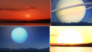 W rolę Słońca i Księżyca wcieliły się inne ciała niebieskie. Takie widoki moglibyśmy podziwiać z Ziemi