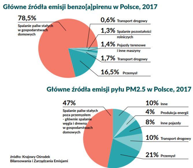 Główne źródła benzopirenu w Polsce (Polski Alarm Smogowy)