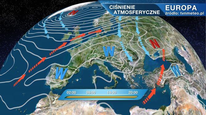 Niż Clara kształtuje pogodę w Polsce
