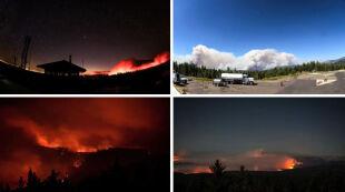 Ściana ognia tuż przy rezerwacie. Nagranie z parku Yosemite
