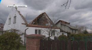 Zerwany dach w Niegowici