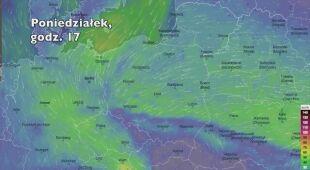 Porywy wiatru (Ventusky.com) | wideo bez dźwięku